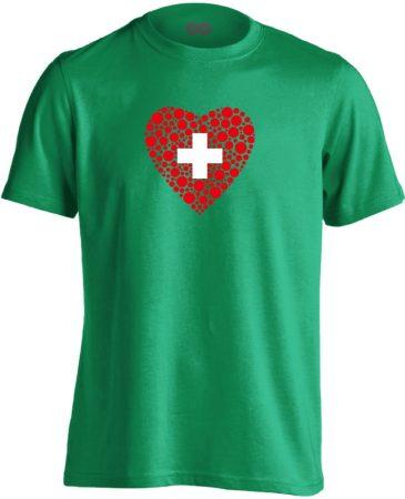Szívügyem az Egészség belgyógyászati férfi póló (zöld)