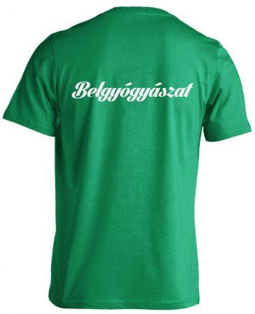 Belgyógyászat férfi póló (zöld)