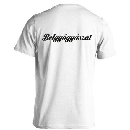 Belgyógyászat férfi póló (fehér)