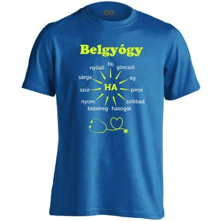 Ha Esik, Ha Fáj! belgyógyászati férfi póló (kék)
