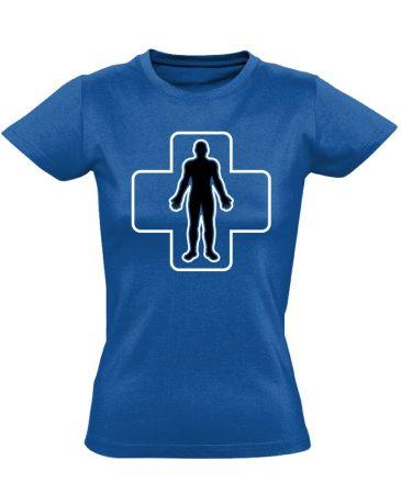 ÉlőPajzs bőrgyógyászati női póló (kék)