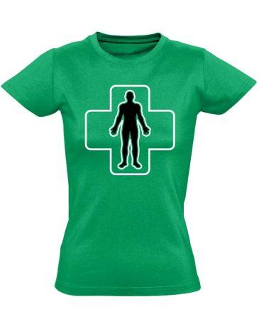 ÉlőPajzs bőrgyógyászati női póló (zöld)