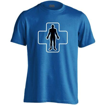 ÉlőPajzs bőrgyógyászati férfi póló (kék)