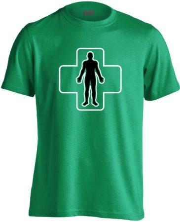 ÉlőPajzs bőrgyógyászati férfi póló (zöld)