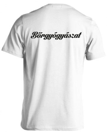 Bőrgyógyászat férfi póló (fehér)