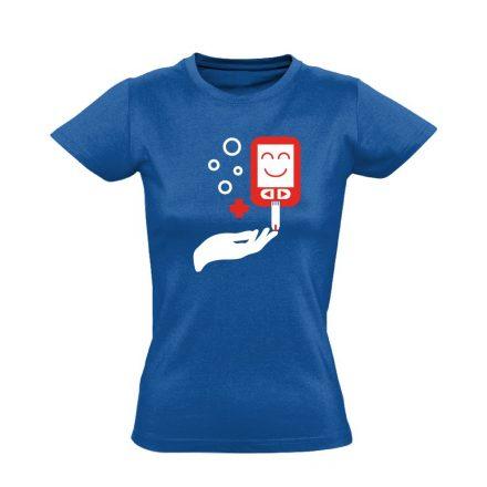 ÉdesMérő diabetológiai női póló (kék)