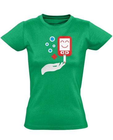 ÉdesMérő diabetológiai női póló (zöld)
