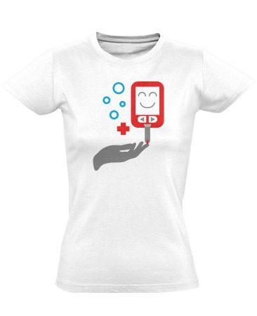ÉdesMérő diabetológiai női póló (fehér)