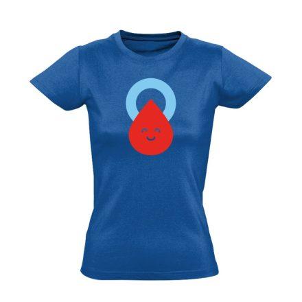 Csepp diabetológiai női póló (kék)
