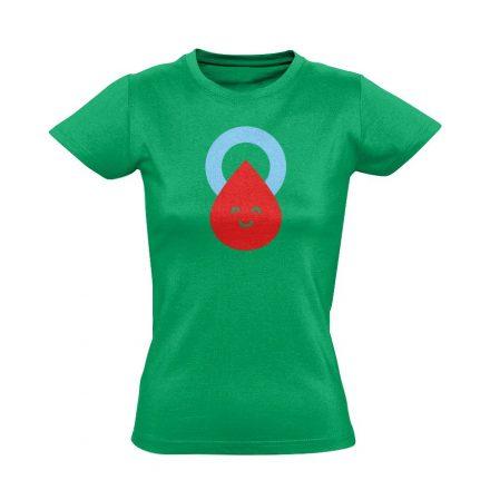 Csepp diabetológiai női póló (zöld)