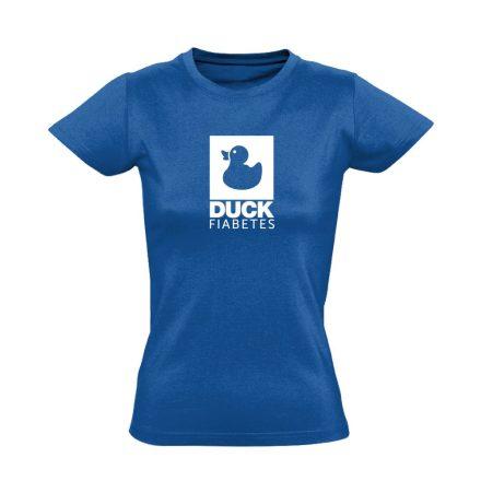 Duck Fiabetes diabetológiai női póló (kék)