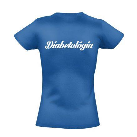 Diabetológia női póló (kék)