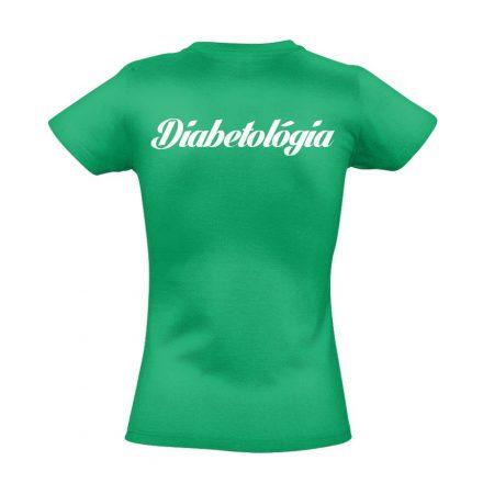 Diabetológia női póló (zöld)