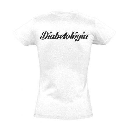 Diabetológia női póló (fehér)