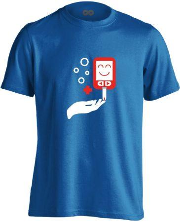 ÉdesMérő diabetológiai férfi póló (kék)