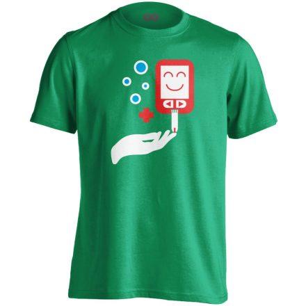 ÉdesMérő diabetológiai férfi póló (zöld)