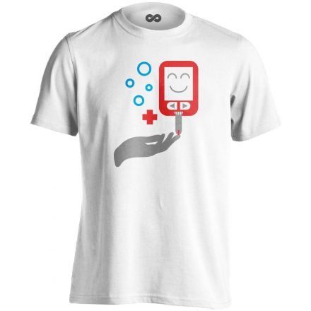 ÉdesMérő diabetológiai férfi póló (fehér)