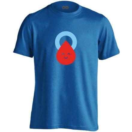Csepp diabetológiai férfi póló (kék)