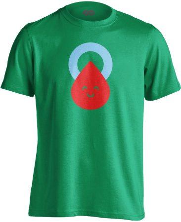 Csepp diabetológiai férfi póló (zöld)