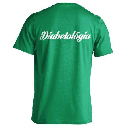Diabetológia férfi póló (zöld)