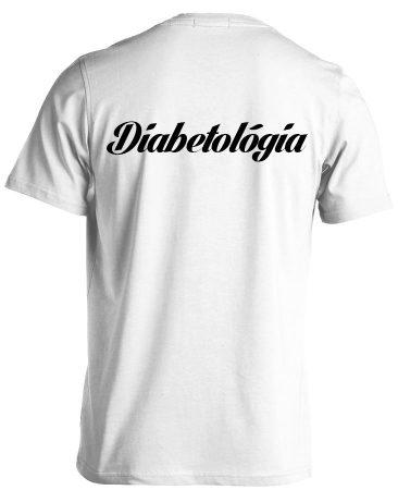Diabetológia férfi póló (fehér)