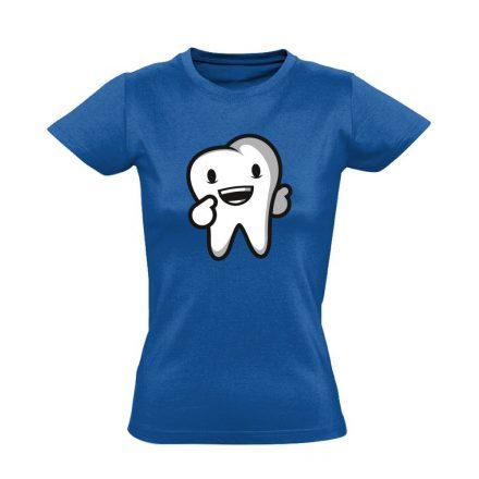 Boldog Fog fogászati női póló (kék)
