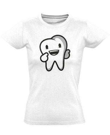 Boldog Fog fogászati női póló (fehér)