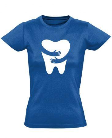 FOGlak fogászati női póló (kék)