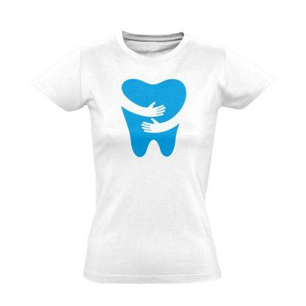FOGlak fogászati női póló (fehér)