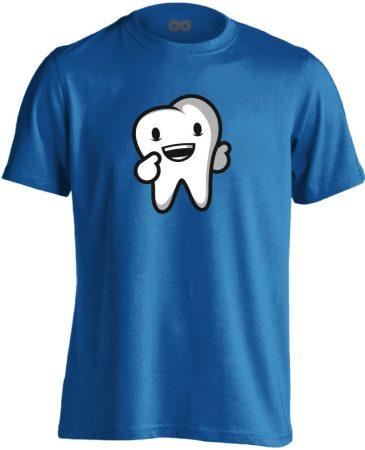 Boldog Fog fogászati férfi póló (kék)