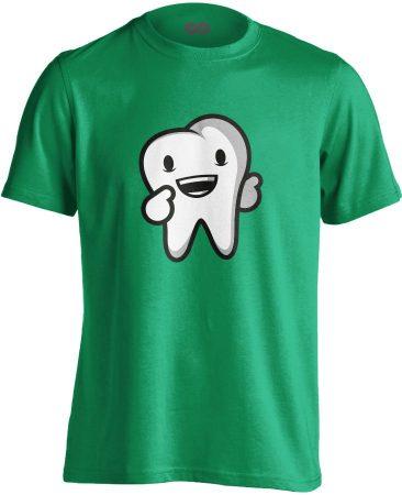 Boldog Fog fogászati férfi póló (zöld)