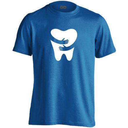 FOGlak fogászati férfi póló (kék)