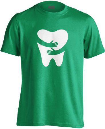 FOGlak fogászati férfi póló (zöld)