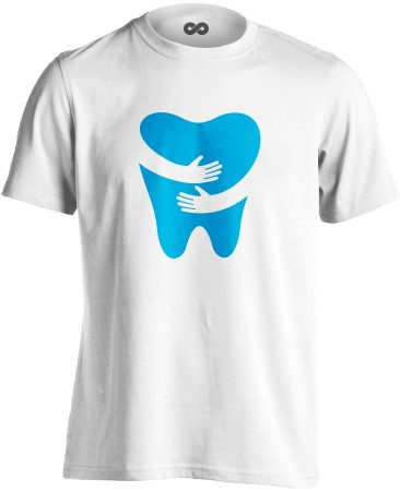 FOGlak fogászati férfi póló (fehér)