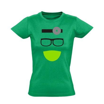 Kukucs fül-orr-gégészeti női póló (zöld)