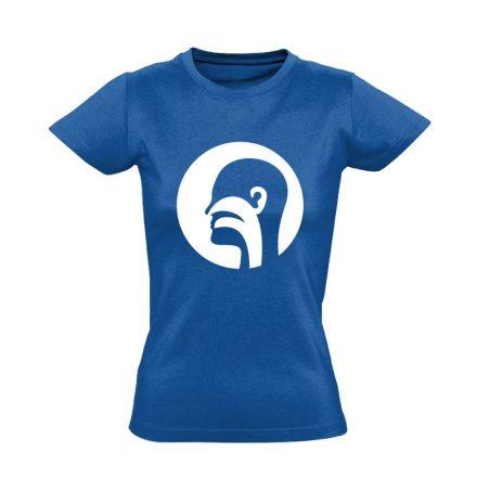 Illat-Íz-Hang fül-orr-gégészeti női póló (kék)