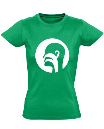 Illat-Íz-Hang fül-orr-gégészeti női póló (zöld)