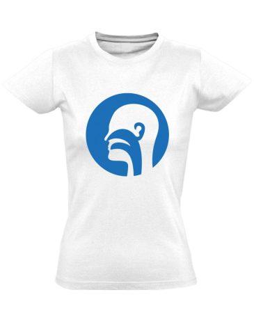 Illat-Íz-Hang fül-orr-gégészeti női póló (fehér)
