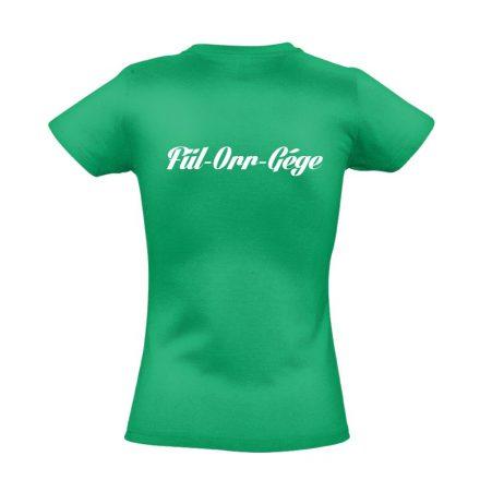 Fül-orr-gégészet női póló (zöld)