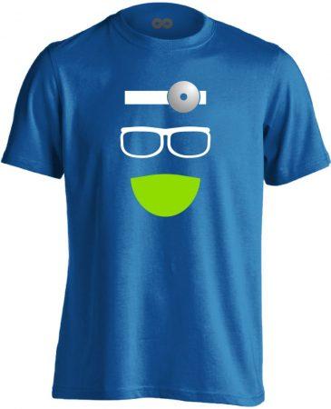 Kukucs fül-orr-gégészeti férfi póló (kék)