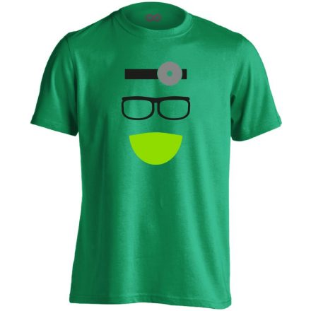 Kukucs fül-orr-gégészeti férfi póló (zöld)