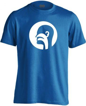 Illat-Íz-Hang fül-orr-gégészeti férfi póló (kék)