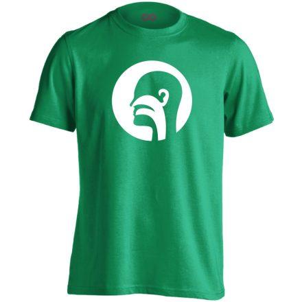 Illat-Íz-Hang fül-orr-gégészeti férfi póló (zöld)