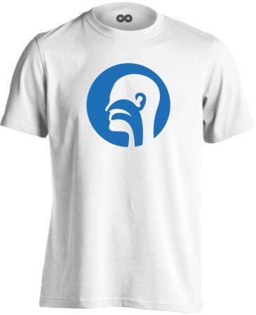 Illat-Íz-Hang fül-orr-gégészeti férfi póló (fehér)