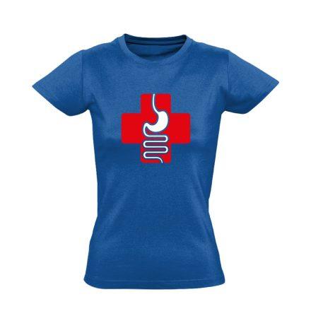 GyógyGyomor gasztroenterológiai női póló (kék)