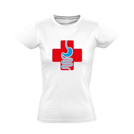 GyógyGyomor gasztroenterológiai női póló (fehér)