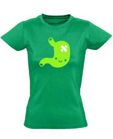 PiciPocak gasztroenterológiai női póló (zöld)