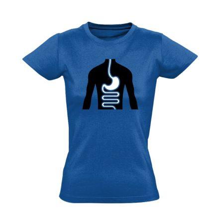 FlamóSikán gasztroenterológiai női póló (kék)