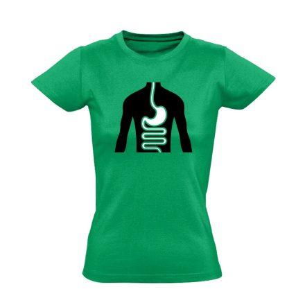 FlamóSikán gasztroenterológiai női póló (zöld)