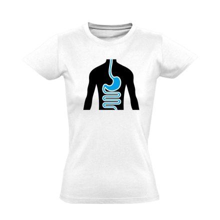 FlamóSikán gasztroenterológiai női póló (fehér)